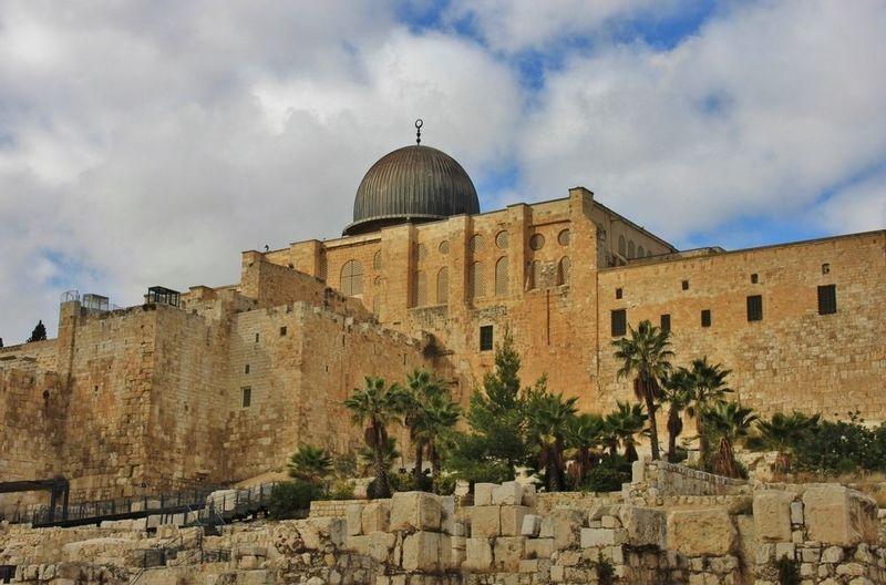 During Isra' Miraj, Prophet Muhammad travelled to Aqsa Mosque in Jerusalem