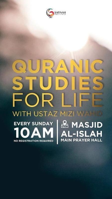 Free Islamic class by Ustaz Mizi Wahid at Masjid Al-Islah