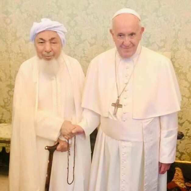 Shaykh Abdullah Bin Bayyah with Pope Francis