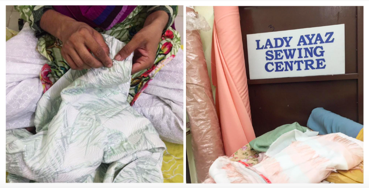 Hafizah Ghazali partnered with ladies from Lady Ayaz Sewing Centre for her Hari Raya collection