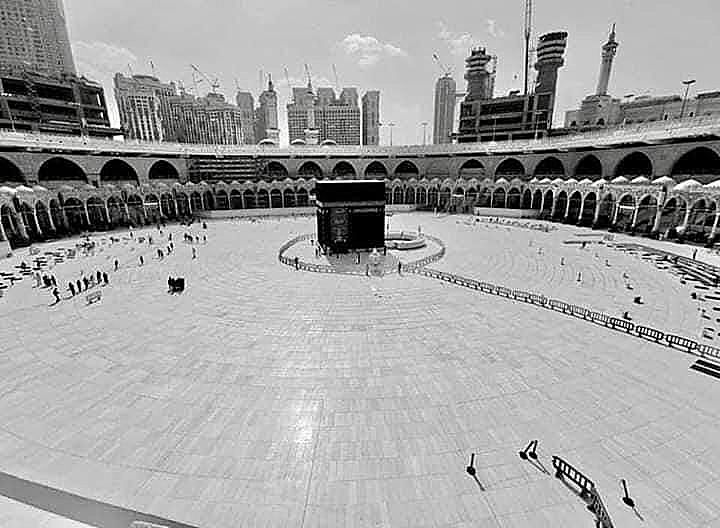 Kaabah closed and empty for covid-19 cleaning