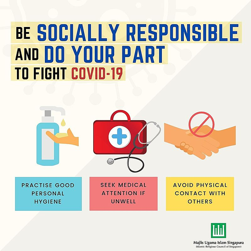 Be socially responsible to fight covid-19
