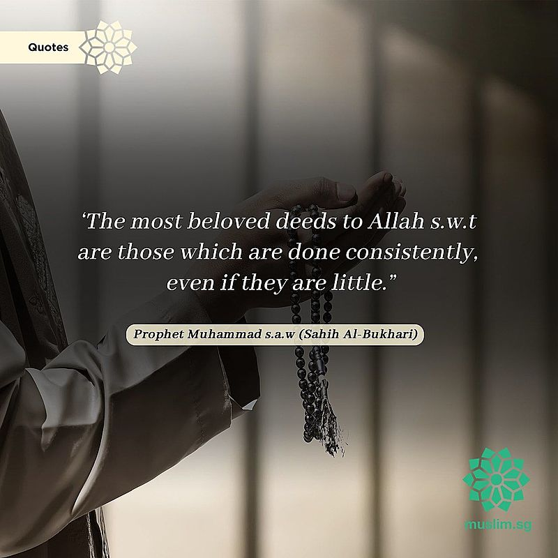 Most beloved deed to Allah are done consistently, even if they are little