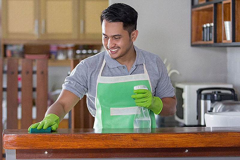 Teach son that gentleman do housework