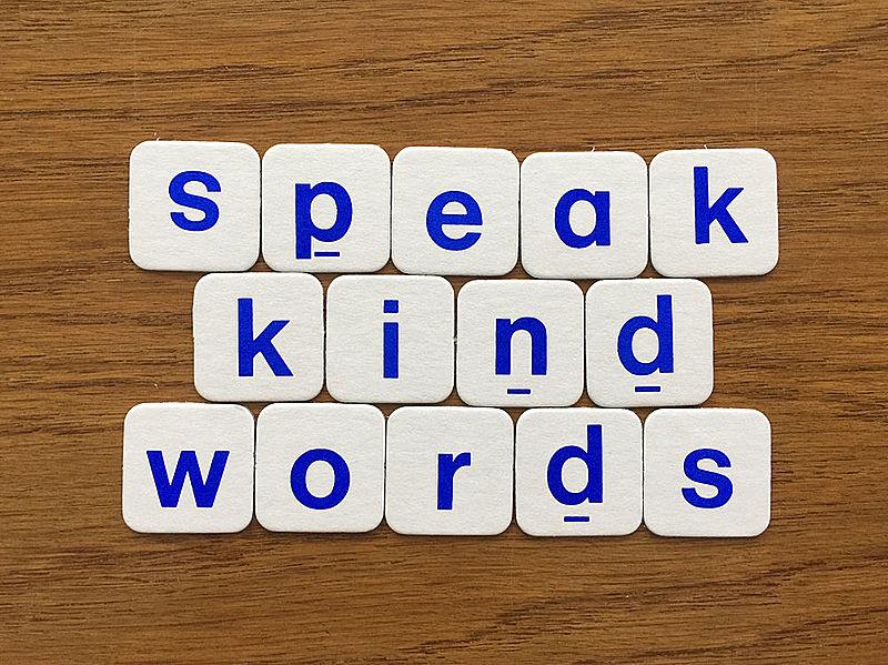 Teach son that gentleman speak kind words