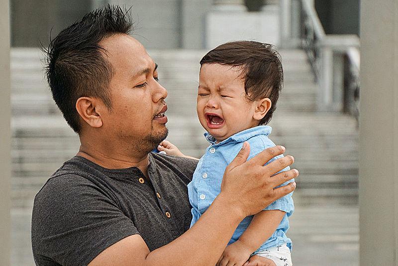 Teach son that gentleman cry