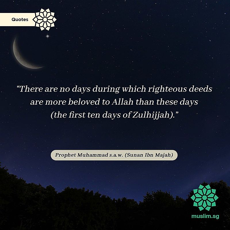 what is the significance of the first 10 days of dhul hijjah