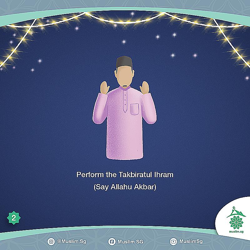 how to perform eid prayer at home singapore Takbiratul Ihram Allahu Akbar