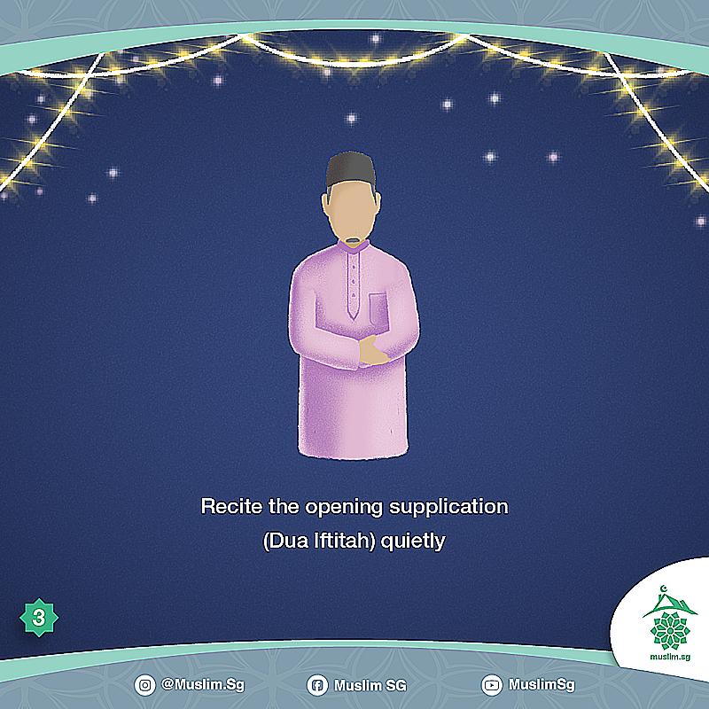 how to perform eid prayer at home singapore Dua iftitah