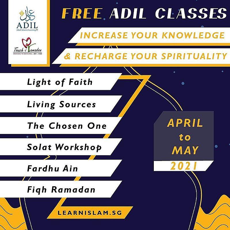 Free ADIL Ramadan Classes