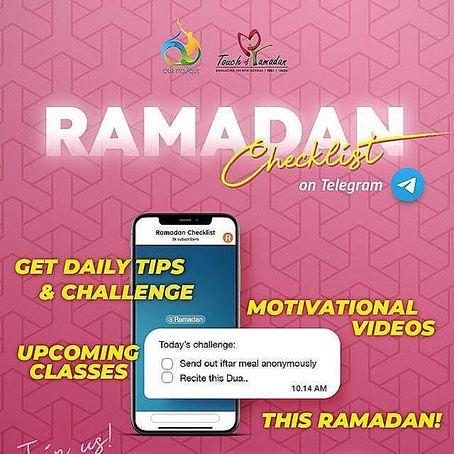 Ramadan Checklist Telegram