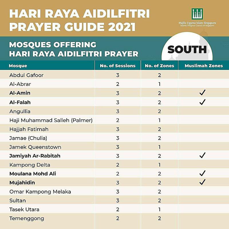 Hari raya prayer booking slot