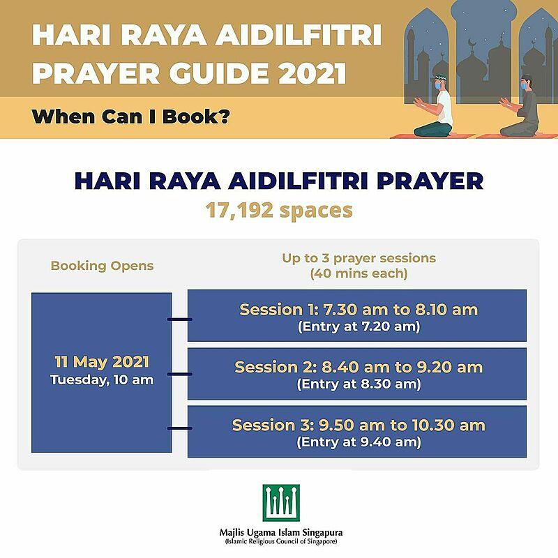 Hari raya aidilfitri prayer booking