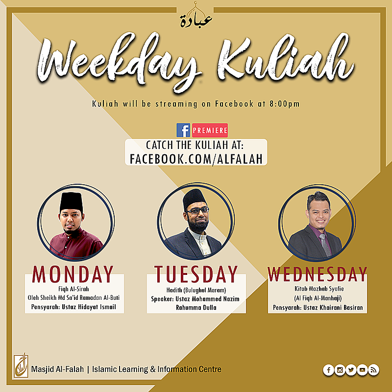 Free Islamic online class by Masjid Al-Falah